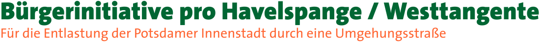 Bürgerinitiative pro Havelspange / Westtangente
